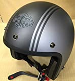 ハーレーダビッドソン/Harley-Davidson 3/4stripesGreyヘルメット/98324-14VA■ハーレー用品■ヘルメット