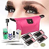 15 PCS Eyelash Extension Kit, Eyelashes Extension Practice Set, Professional Head Model Lip Makeup Eyelash Grafting Training