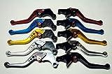 選べる5色 アルミ ブレーキ クラッチ レバー セット 6段階調整 【ADVANTAGE】 ホンダ 汎用 CBR250 NSR250 CB400SF VTR250 ホーネット (ゴールド)