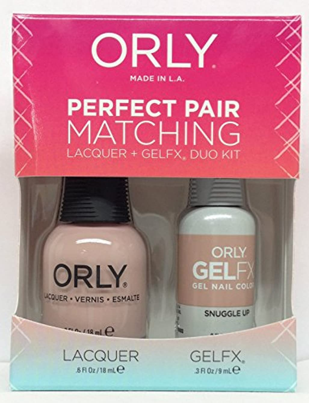 受動的自分のために長椅子Orly - Perfect Pair Matching Lacquer + GelFX Kit - Snuggle Up - 0.6 oz / 0.3 oz