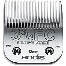 Andis Carbon-Infused Steel UltraEdge Dog Clipper Blade, Size-3-3/4 FC, 1/2-Inch Cut Length (64135)