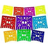 Fiesta Brands 2 Pack Mexican .Colours for The Dead Papel Picado Banner.Vibrant Colours Tissue Paper. Large Size Panels. Multicoloured Dia de Los Muertos Sugar Skull Decoration Design