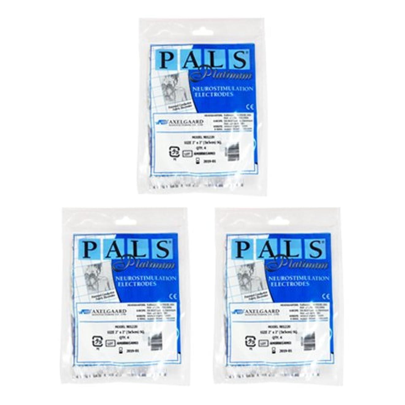 留め金下向きバイナリ敏感肌用アクセルガード ブルー Mサイズ × 3セット 【EMS用粘着パッド】