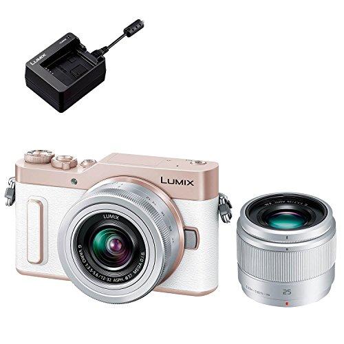 Panasonic ミラーレス一眼カメラ ルミックス GF90 ダブルレンズキット ホワイト DC-GF90W-W + バッテリーチャージャー DMW-BTC12 セット