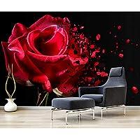 大壁画の壁紙3Dモダンフォトロマンチックな赤いバラ、リビングルームのベッドルームテレビの背景、壁紙、家の装飾280 cm(W)x 180 cm(H)