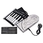 Healifty ロールアップキーボードピアノ49キーシリコンデジタルキーボードとスピーカーなしバッテリー(ブラック)