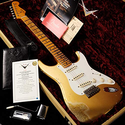Fender Custom Shop/Limited Edition 1957 Stratocaster Heavy Relic Aged Aztec Gold over Gold Sparkle