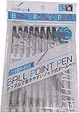 ノック式ボールペン 黒色 0.7mm 10本組