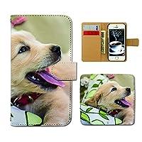 GALAXY S10 SC-03L ケース 手帳型 犬写真 手帳ケース スマホケース カバー 犬 いぬ ペット かわいい 白 子犬 E0291030106401