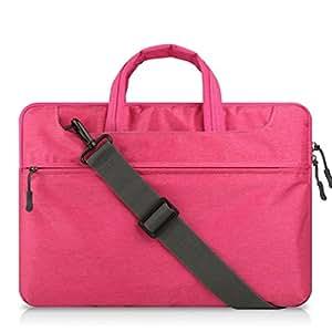 GADIEMENSS 軽量で丈夫な防水 ラップトップ ショルダーバッグ/ブリーフケース 13-13.3 インチ iPad Pro 12.9/ノートパソコン/MacBook /MacBook Pro / MacBook Air バッグカバー (ピンク)