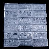 ユニークモール(UniqueMall)30個シリコンモールド 3Dネイル用 レジン ネイルアートパーツ デコ ジェルネイル デザインセット ネイルアートキット