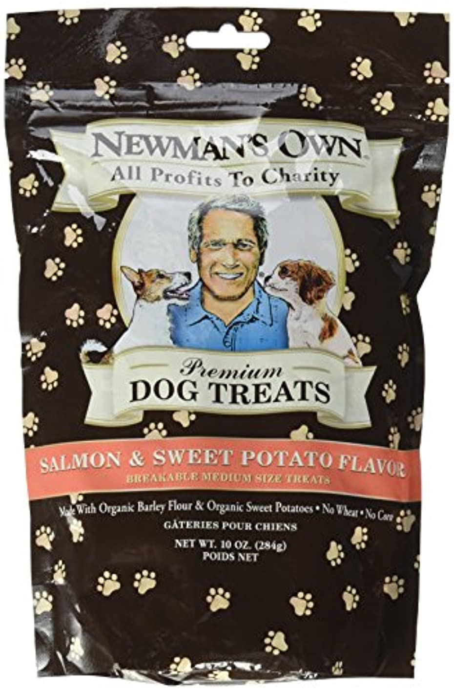 噴火束ねる東方海外直送品Newman's Own Organics Organics Dog Treats, Salmon and Sweet Potato 10 OZ(case of 6)