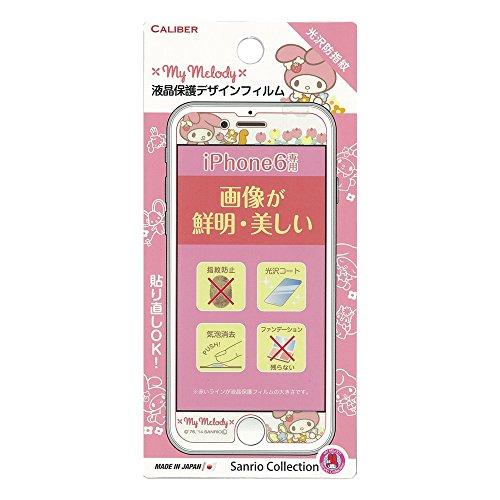 CALIBER キャリバー iPhone6 4.7inch対応 液晶保護デザインフィルム(光沢タイプ) - マイメロディ IP-049