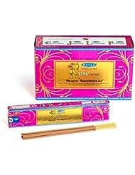 Satya Nag Champa 天然ローズお香スティック Agarbatti 180グラムボックス | 15グラム入り12パック 箱入り | 輸出品質