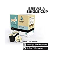CaribouコーヒーCaribouブレンドカフェイン入りコーヒーfor Keurig Brewingシステム、160K-cups