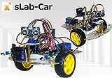 sLab-Car(エスラボ・カー)スマートロボットカー【Scratch・Arduino対応】スターターキット《IoT電子工作・プログラミング教育教材》 (最小)