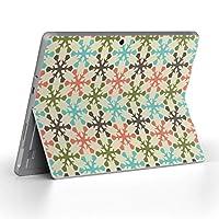 Surface go 専用スキンシール サーフェス go ノートブック ノートパソコン カバー ケース フィルム ステッカー アクセサリー 保護 チェック・ボーダー 雪 結晶 模様 005763