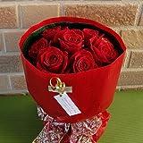 【I Love you】の花束!花びらメッセージ入り・特選赤いバラの花束でサプライズ