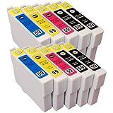 【むさしのメディアオリジナル】 EPSON 互換IC5CL59x2(5色セット x 2パック)インクカートリッジ エプソン互換 *ICチップ(残量表示機能)付き [フラストレーションフリーパッケージ(FFP)]