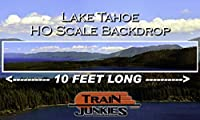 Train Junkies Lake Tahoe - Railroad Backdrop HO OO Scale