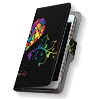 AQUOS Xx mini 603SH ケース カバー 手帳 スマコレ 手帳型 レザー 手帳タイプ 革 スマホケース スマホカバー ダブルエックス ミニ ラブリー 006773 Sharp シャープ ymobile ワイモバイル ハート カラフル 603sh-006773-nb