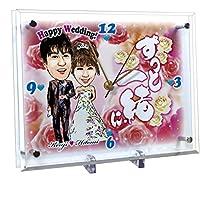 結婚祝いのプレゼントに 似顔絵時計 大サイズ N-21
