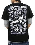 (アスナディスペック)ASNADISPEC メンズ tシャツ 大きいサイズ 半袖 History プリント ロゴtシャツ asst2222 (XXL, BLACK) (¥ 2,819)