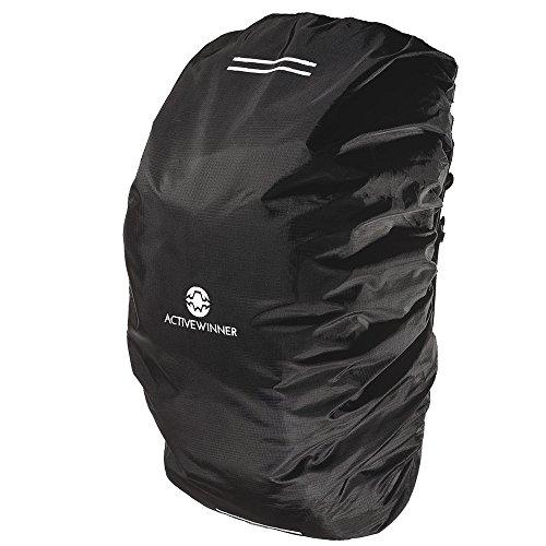 Active Winner リュックカバー レインカバー (S) 雨よけ 高耐久性 強力撥水 風飛び防止 収納袋付