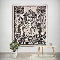タロットカードタペストリー, 占星タロット壁装飾フィギュアレトロな装飾布掛かるビーチタオルテーブルクロスベッドスプレッド用毛布-f 150x130cm(59x51inch)
