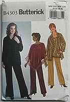 Butterick Sewing Pattern 4303 Womens Plus Size 26W-32W Easy Wardrobe Poncho Shirt Top Pants by Butterick