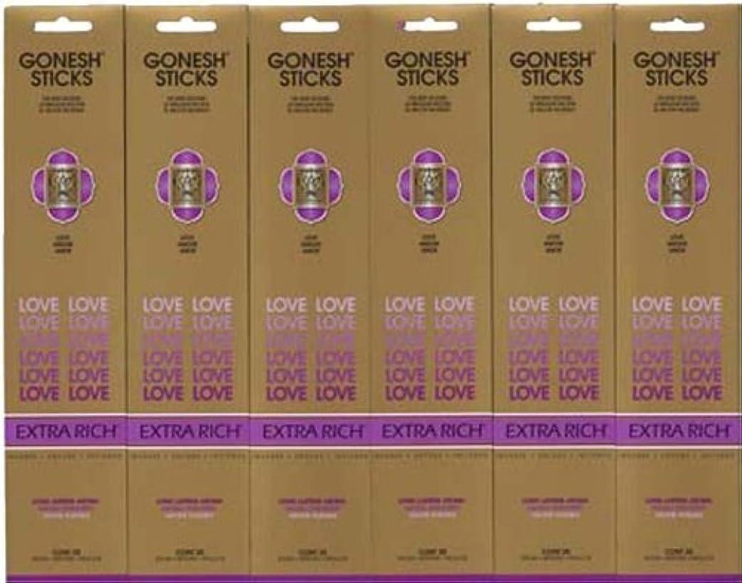 アーネストシャクルトンガジュマルゴシップGONESH LOVE ラブ スティック 20本入り X 6パック (120本)