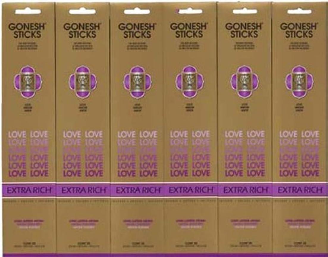マスタード隔離する重要GONESH LOVE ラブ スティック 20本入り X 6パック (120本)