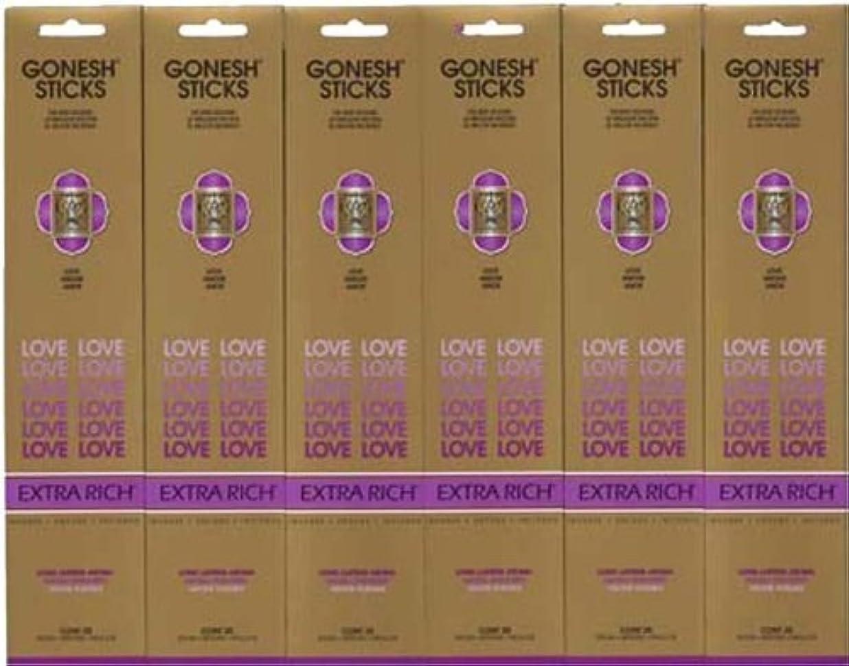 ライセンスすべき中毒GONESH LOVE ラブ スティック 20本入り X 6パック (120本)