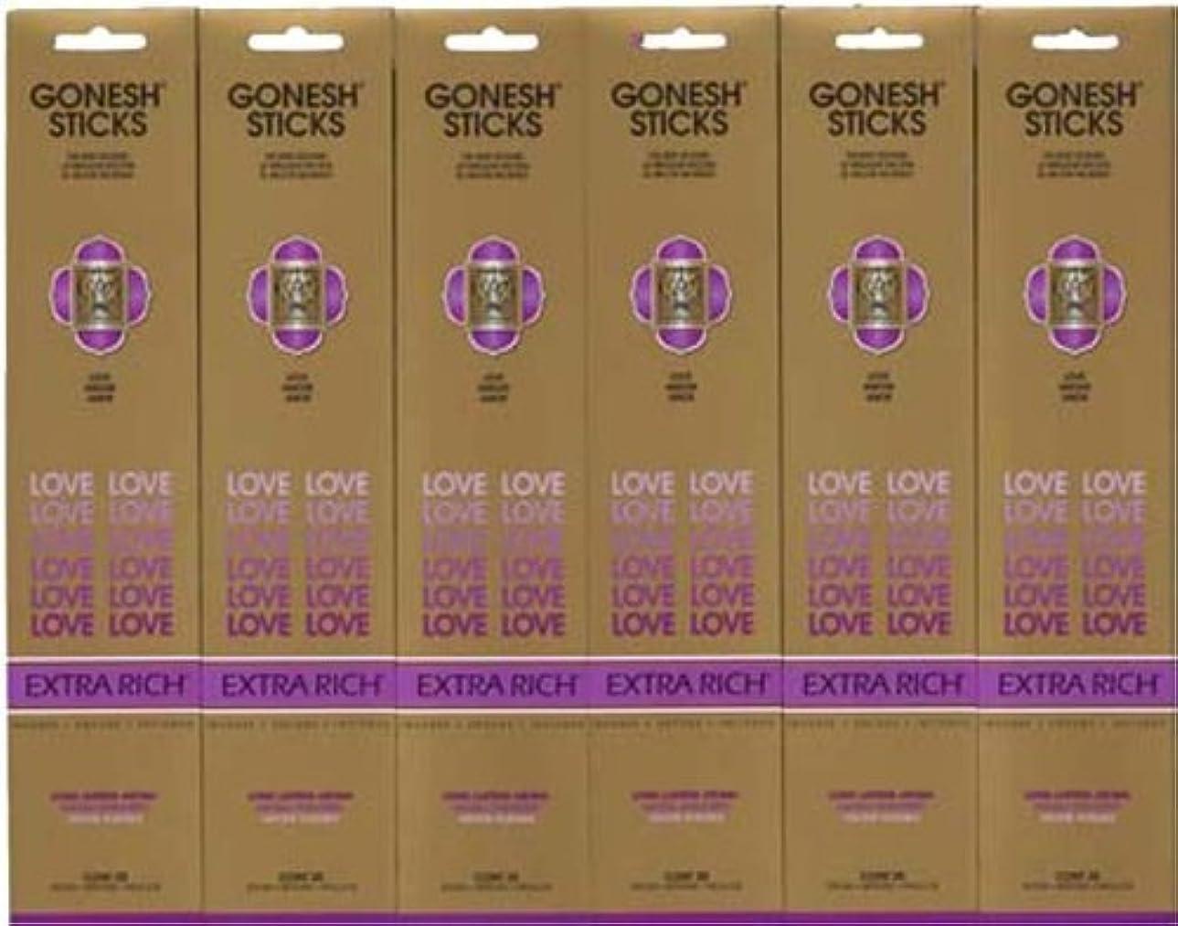 ラジエーター賠償超音速GONESH LOVE ラブ スティック 20本入り X 6パック (120本)