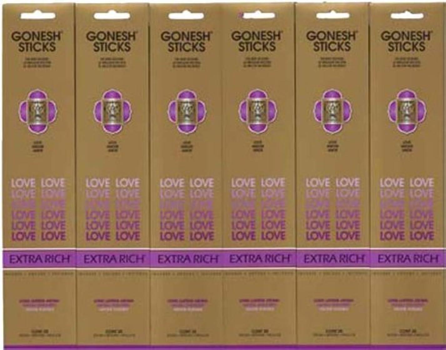 職業想起約束するGONESH LOVE ラブ スティック 20本入り X 6パック (120本)