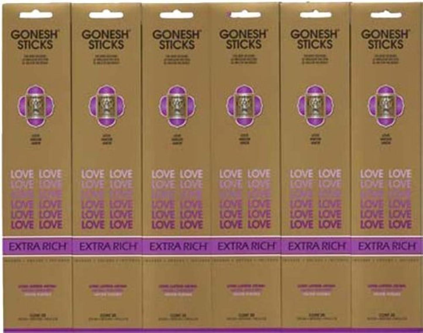メニュー所持視力GONESH LOVE ラブ スティック 20本入り X 6パック (120本)