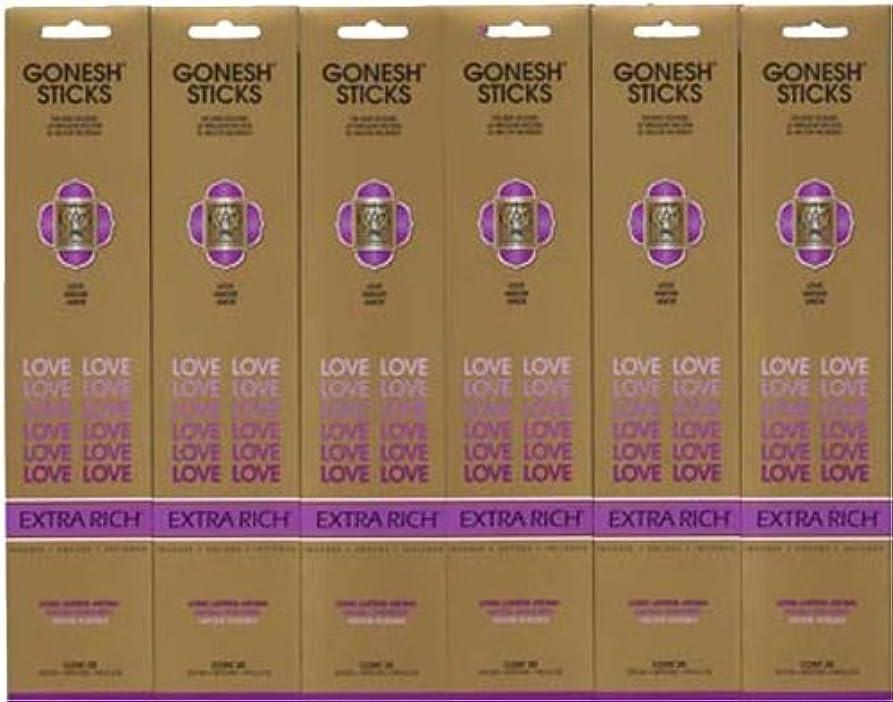 ペインインデックスレッドデートGONESH LOVE ラブ スティック 20本入り X 6パック (120本)