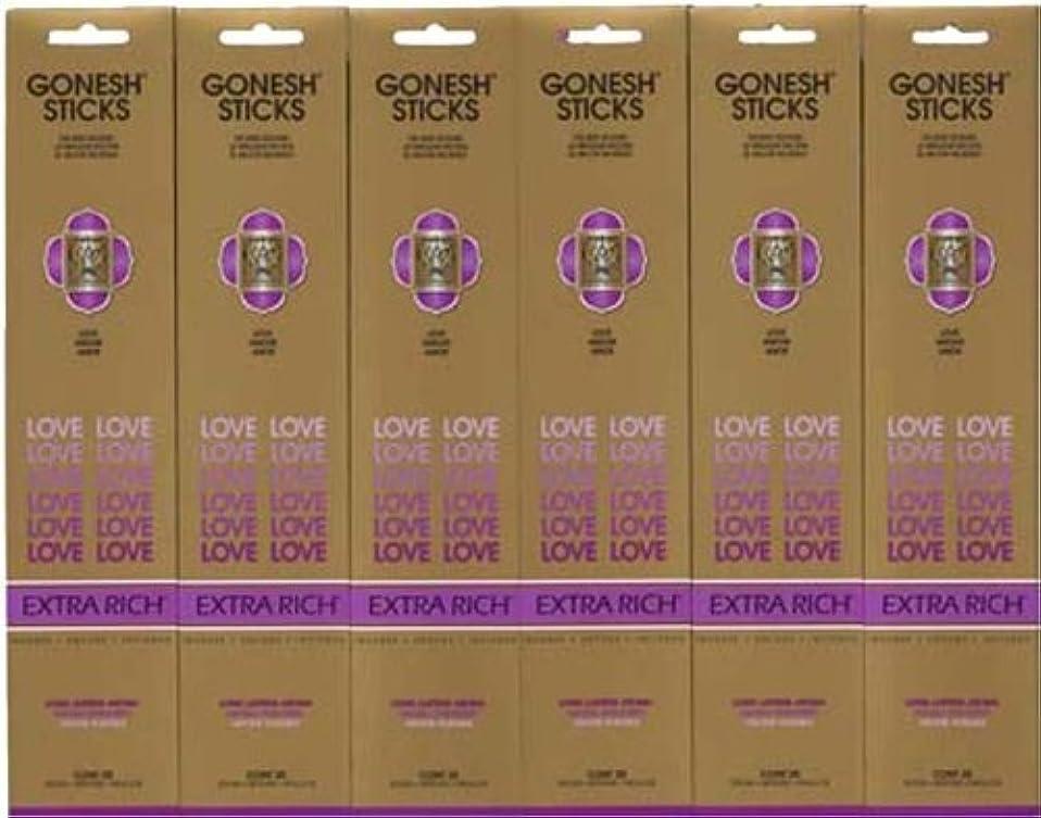 十分個性分配しますGONESH LOVE ラブ スティック 20本入り X 6パック (120本)