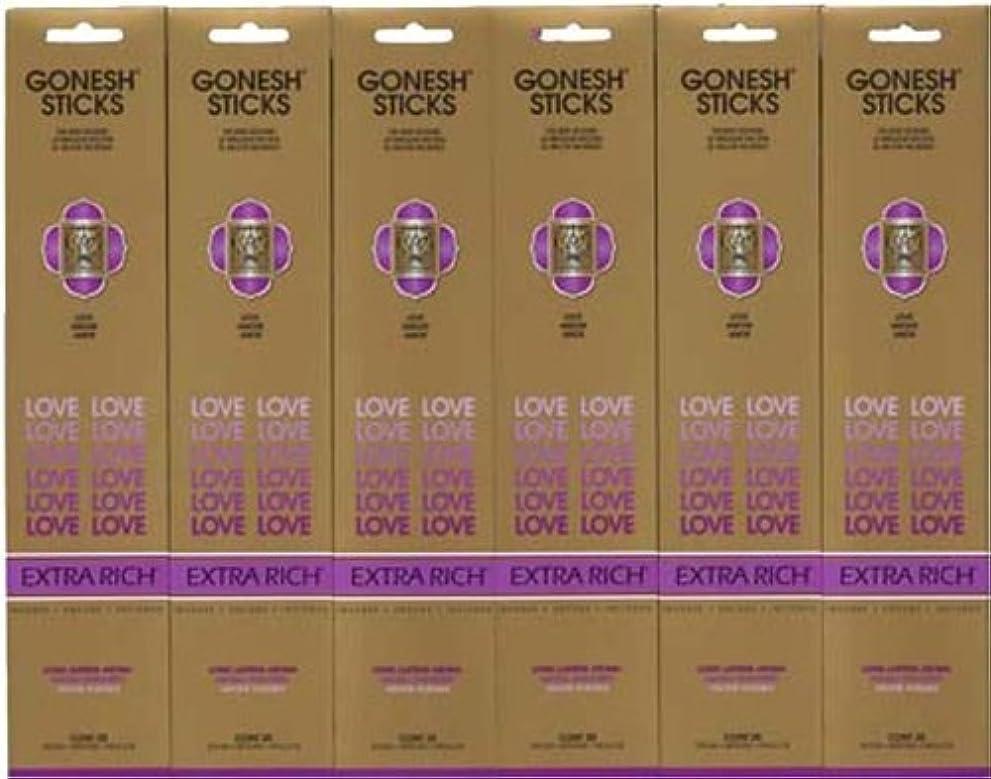 GONESH LOVE ラブ スティック 20本入り X 6パック (120本)