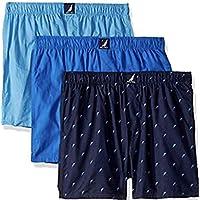Nautica Men's Cotton Woven 3 Pack Boxer