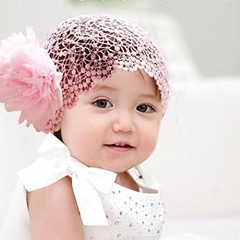 LuxBene(TM)ファッションロマンチック女の赤ちゃんのヘアアクセサリーワイドカチューシャ幼児ヘアバンド新生児女の子レースの中空フラワーカチューシャ