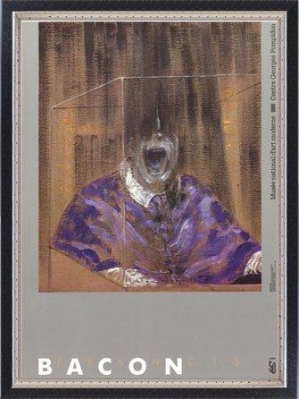 ポスター フランシス ベーコン Head VI 1988 額装品 マッキアフレーム-S(ブラックシルバー)