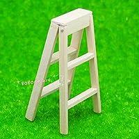 bobominiworld A木製ラダードールハウスミニチュア装飾1 : 12スケール長さ3 cm木製