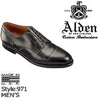 (オールデン)ALDEN 971 STRAIGHT TIP BLUCHER ストレートチップ ブル-チャー ブラック (並行輸入品)