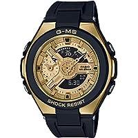 Casio Baby-G G-MS Black Gold Ladies' Alarm Chronograph Watch MSG-400G-1A2ER