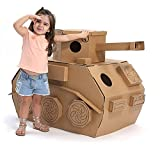 組立品 ままごと ダンボール おもちゃ キッズ テント 紙のおもちゃ DIY バオバブ紙器 (戦車)