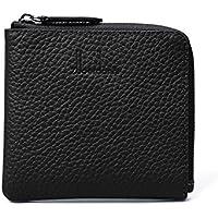 財布 レディースウォレットレザーショートミニウォレットコインケース レジャー財布 ( Color : Black )