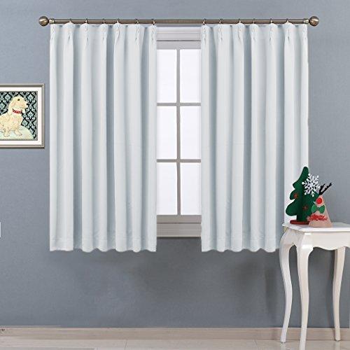 NICETOWN 遮光カーテン 2枚セット アイボリー おしゃれ UVカット 幅100cm丈135cm