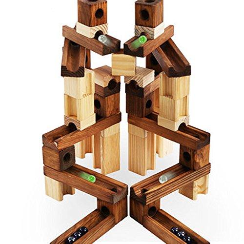 ビ?玉転がし 積み木 60 PCS 木のおもちゃ 知育 頭脳 パズル 3-5日届ける