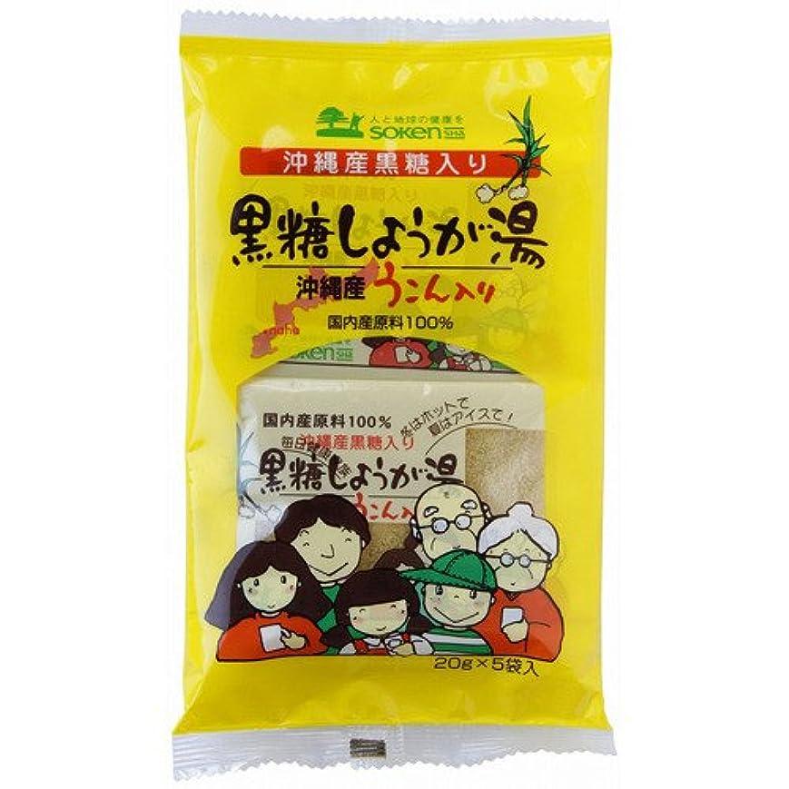 刈り取る名目上のインスタント創健社 沖縄産うこん入り黒糖しょうが湯 20g×5袋入